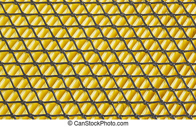 grid on the car air filter