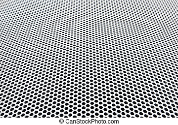 radiator metal grid diminishing perspective view