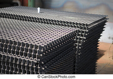 Detail picture of metal grids