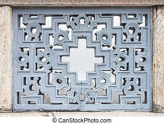 Metal grille in the Chinese style
