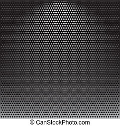Metal grille - Realistic vector speaker grill background
