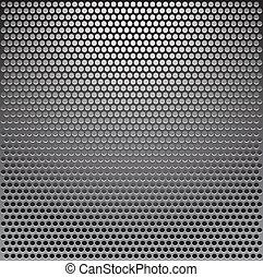 Vector metal grille
