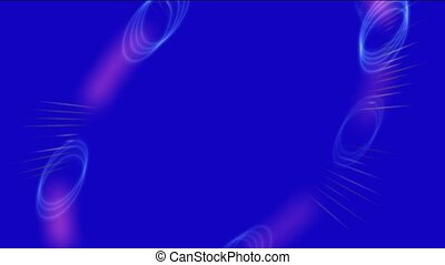 metal halo and rays light,virtual communication web energy...