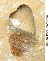 metal heart gingerbread flour