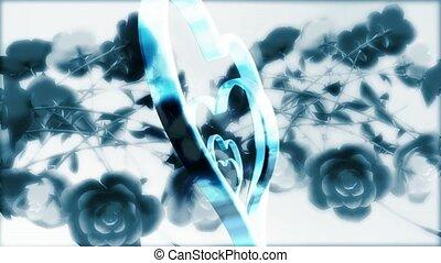 Metal Hearts on Flowers