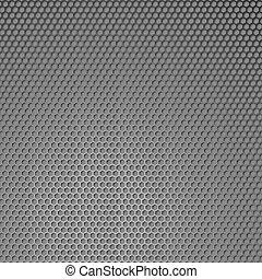 Metal honeycomb background