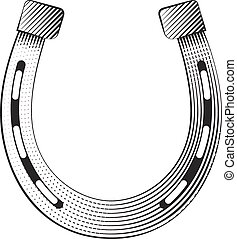 Metal horseshoe on a white background, excellent vector ...