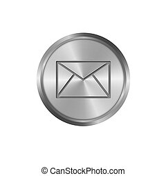 metal icon, mail