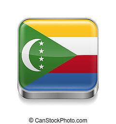 Metal  icon of Comoros