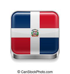 Metal  icon of Dominican Republic