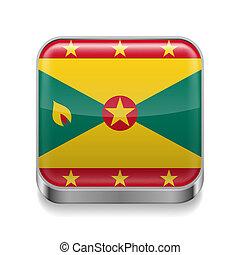 Metal  icon of Grenada