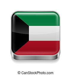 Metal  icon of Kuwait