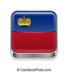 Metal  icon of Liechtenstein