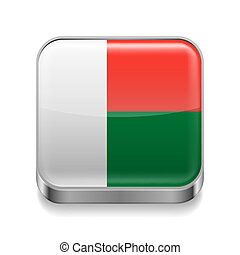 Metal  icon of Madagascar