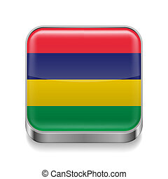 Metal  icon of Mauritius