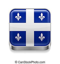 Metal icon of Quebec