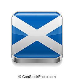 Metal icon of Scotland