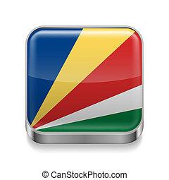 Metal  icon of Seychelles