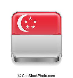 Metal  icon of Singapore