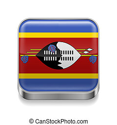 Metal  icon of Swaziland