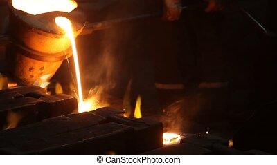 Metal industry, Molten Steel. Metallurgy.