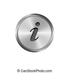 metal info button