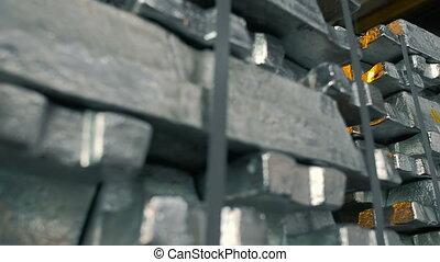 Metal Ingots in Stock Warehouse - Metal Ingots in...