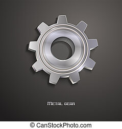 Metal iron gear. Logo icon design. Vector