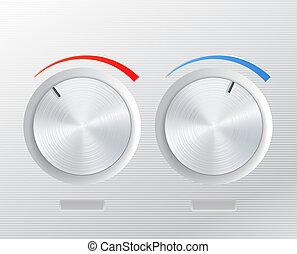 Metal knob  - Metal vector knob