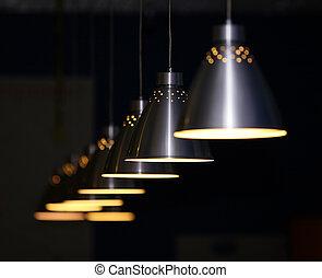 metal, lámparas