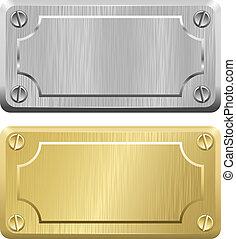 Metal Labels - Nameplates