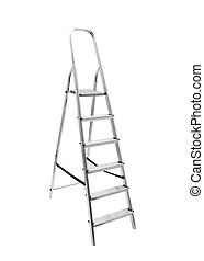 metal ladder isolated on white