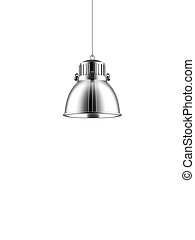 metal lantern  isolated on a white background