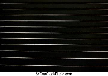 Metal lattice on a black