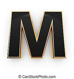 metal, letra m