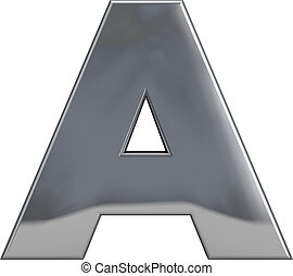 Metal Letter A