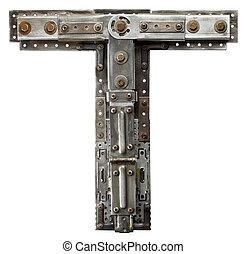 Metal letter - Industrial metal alphabet letter