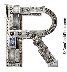 Metal letter - Industrial metal alphabet letter R