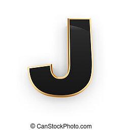 Metal letter J