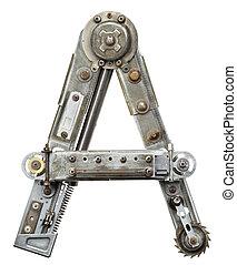 Metal letter - Industrial metal alphabet letter A