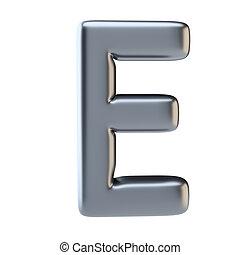 Metal letter uppercase