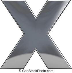 Metal Letter X
