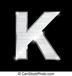 metal letter,K