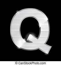 metal letter,Q