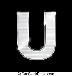 metal letter,U