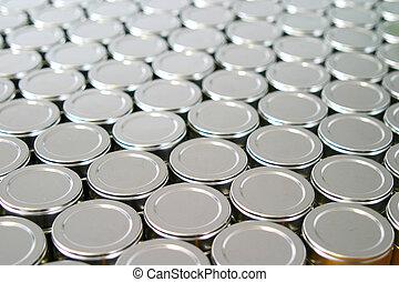 tins - Metal lids of packaging tins