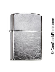 Metal lighter isolated on white background