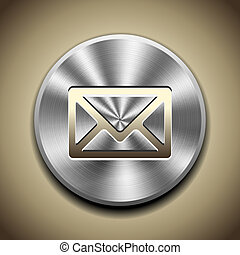 Metal mail button