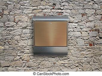 metal mailbox on wall