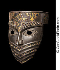 Metal mask isolated on black